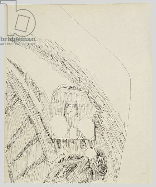 Tube Accident, 1940 (ink on paper)