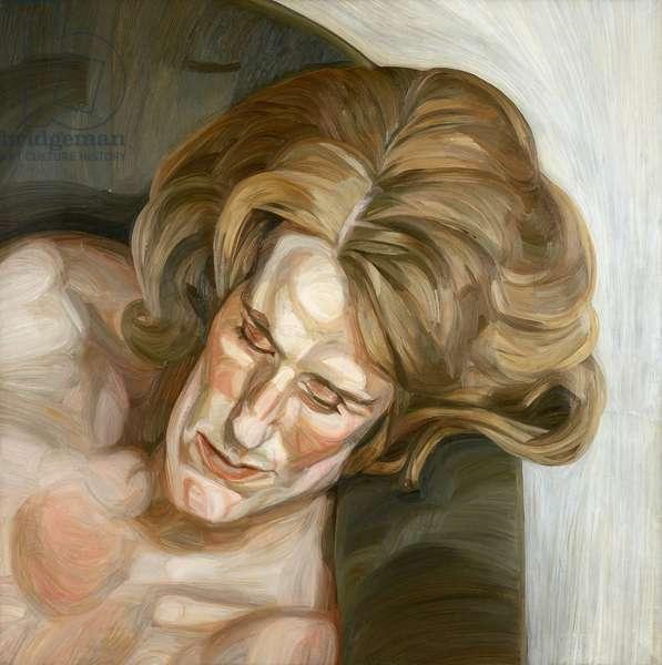 Head on a Green Sofa, 1960/61 (oil on canvas)