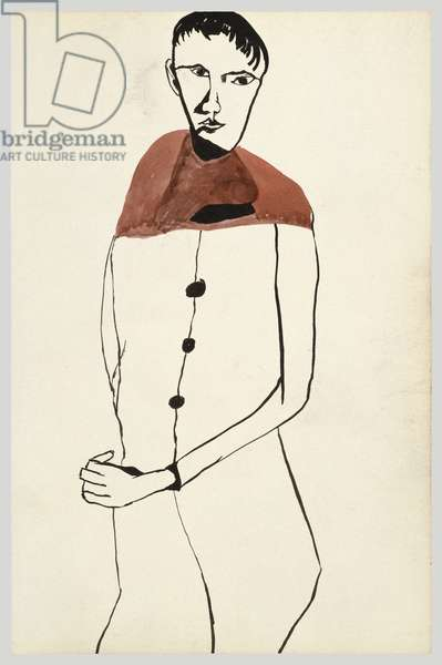 Boy in Red, 1940 (ink on paper)