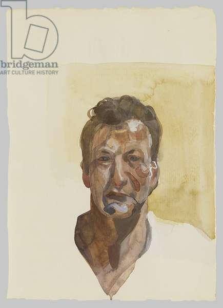 Self Portrait, 1974 (pencil and w/c)