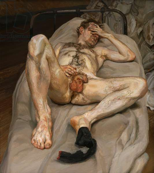 Naked Man on a Bed, 1989-90 (oil on canvas)