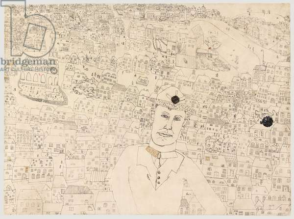 Man and Town, 1940-41 (ink with w/c  & gouache on paper)