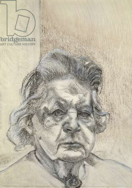 The Painter's Mother, 1984 (charcoal & white crayon on paper)