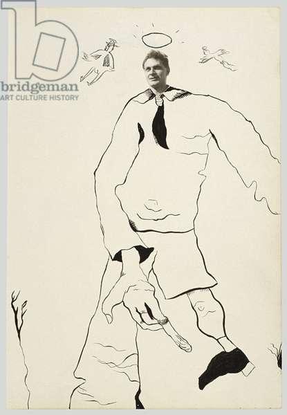 Stephen Spender (Collage), 1940 (ink on paper)