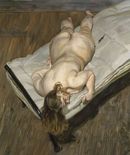 Night Portrait, Face Down, 1999-2000 (oil on canvas)