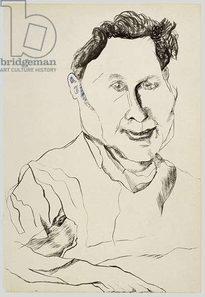 Stephen Spender, 1940 (ink & gouache on paper)