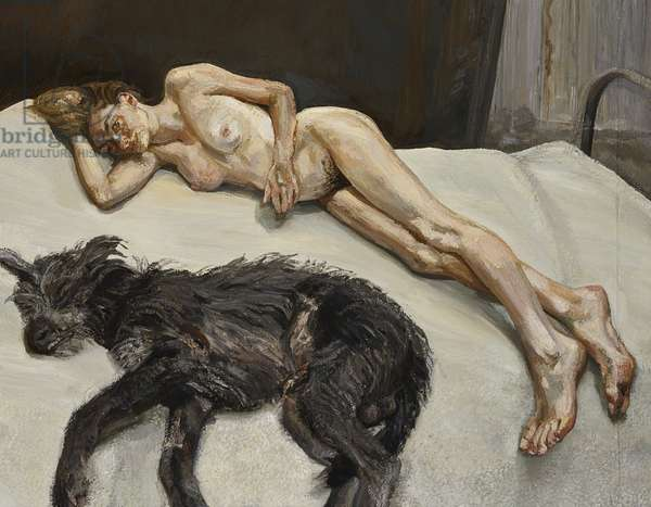 Annabel and Rattler, 1998 (oil on canvas)
