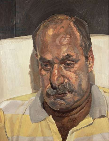 Man in a Sports Shirt, c.1982-83 (oil on canvas)