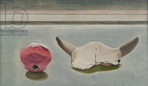 Still Life with Horns, 1945-46 (oil on panel)