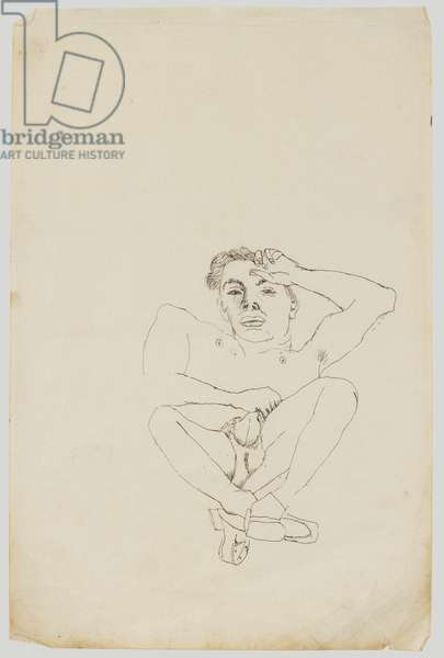 Boy Lying Down, Frontal c.1943 (ink on paper)