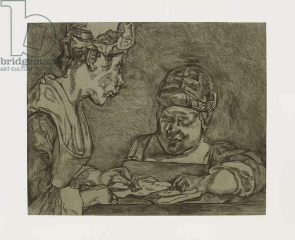 After Chardin, 2000 (etching)