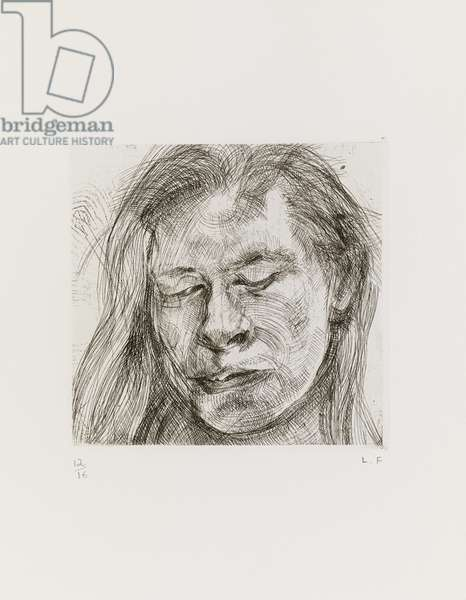 Head of a Girl I, 1982 (etching)