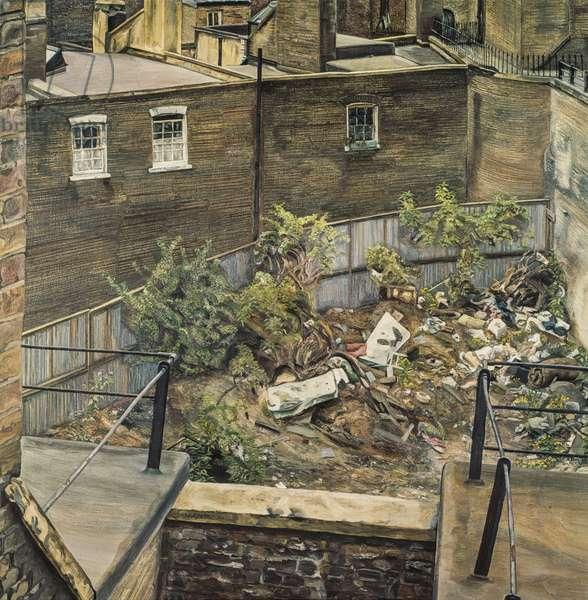 Wasteground, Paddington, 1970 (oil on canvas)