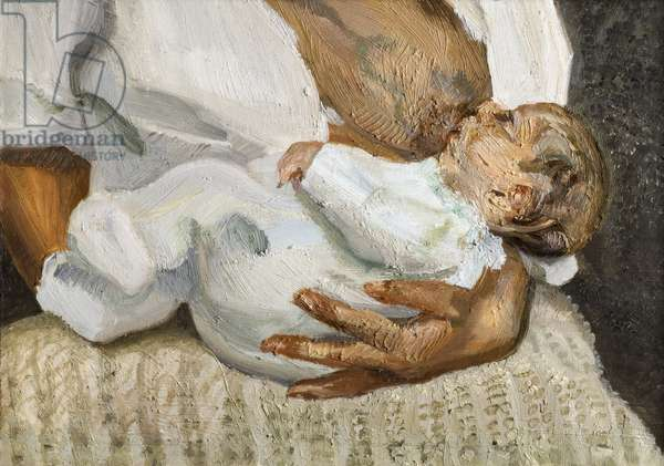 Esther and Albie, 1995 (oil on canvas)