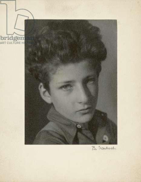 Lucian Freud as a child, c.1933 (b/w photo)
