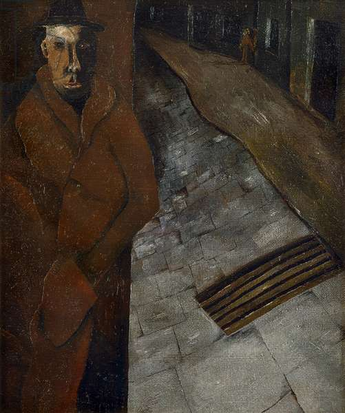 Man in the Street, c.1940 (oil on canvas)