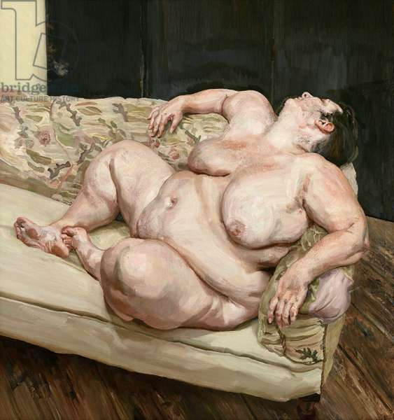Benefits Supervisor Resting, 1994 (oil on canvas)