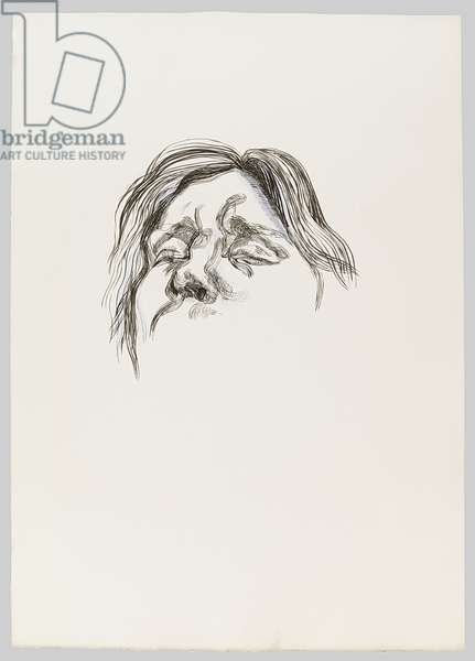 Drawing for Naked Man with Rat (ll), c.1977 (ink & gouache on paper)
