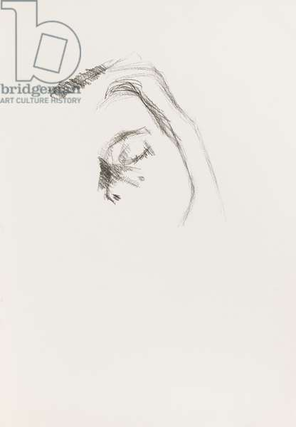 Model with Eyes Closed, c.2001 (charcoal on paper)