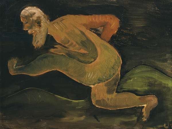 Old Man Running, 1936 (oil on canvas board)
