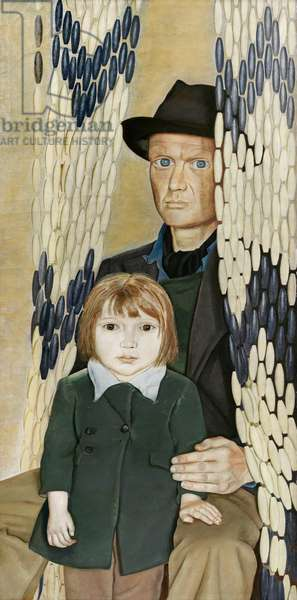 Father and Daughter, 1949 (oil on canvas)