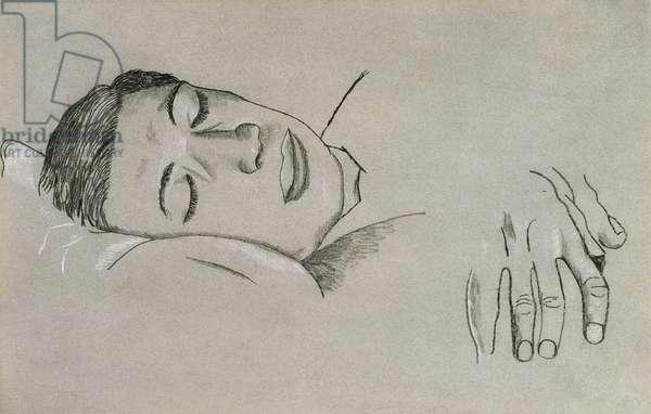 Sleeping Boy, c.1944 (pencil and crayon)