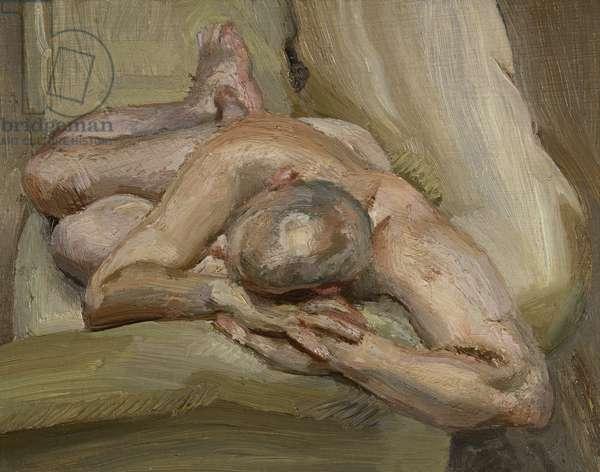 Leigh on a Green Sofa, 1994 (oil on canvas)