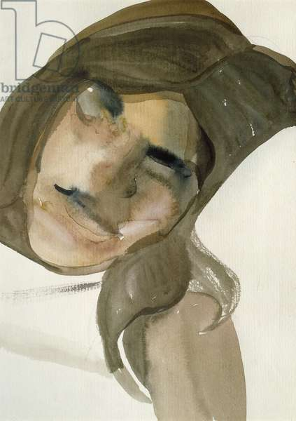 Sleeping Girl, 1961 (w/c on paper)