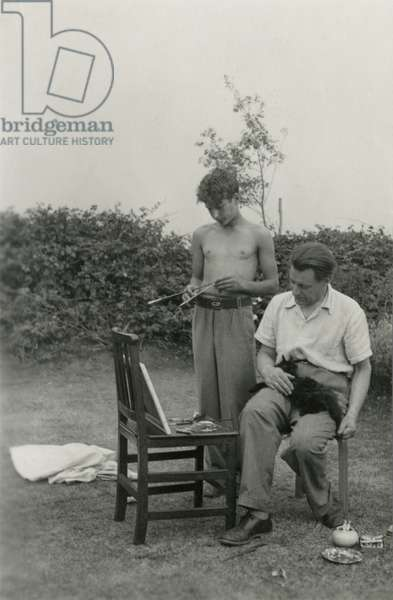 Lucian and Ernst Freud, Walberswick, Suffolk, 1936 (b/w photo)