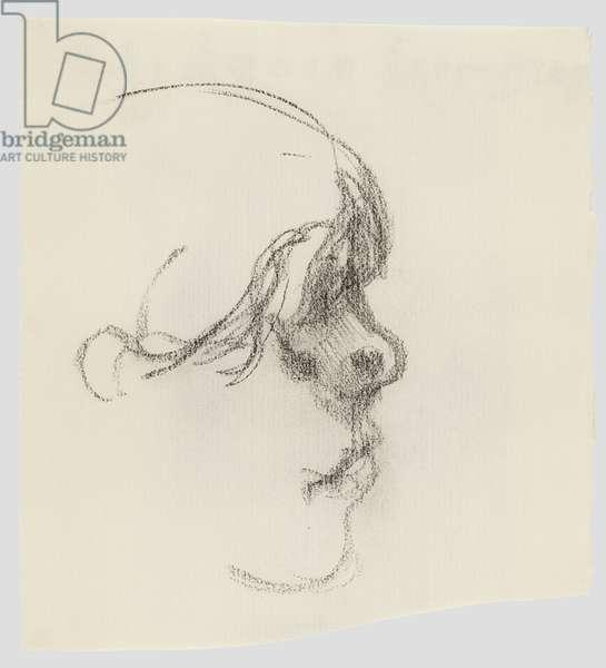 Profile Head, 1990 (pencil on paper)