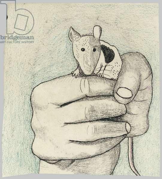 Pet Mouse, c.1944 (pencil & crayon on paper)