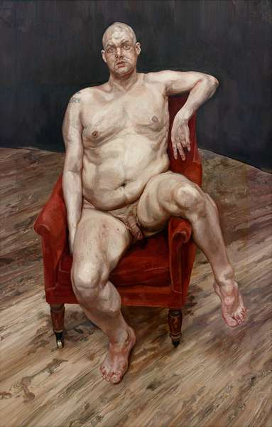 Leigh Bowery (Seated) 1990 (oil on canvas)