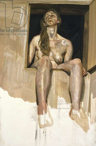 Girl in Attic Doorway, unfinished, 1994 (oil on canvas)