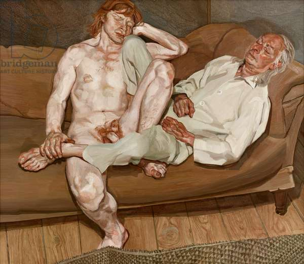 Naked Man with his Friend, 1978-80 (oil on canvas)