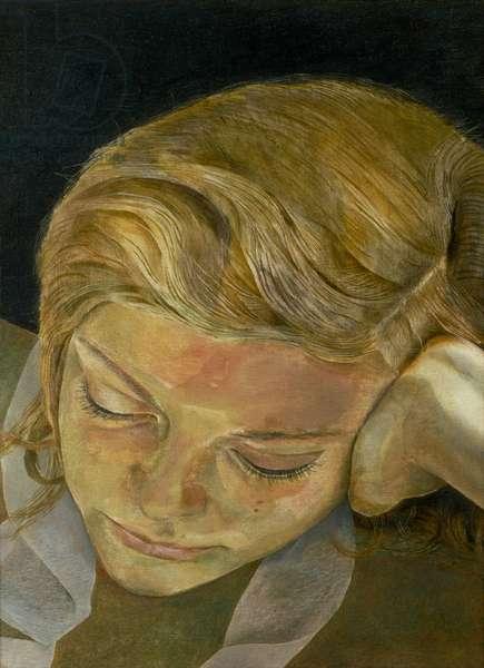 Girl Reading, 1952 (oil on copper)