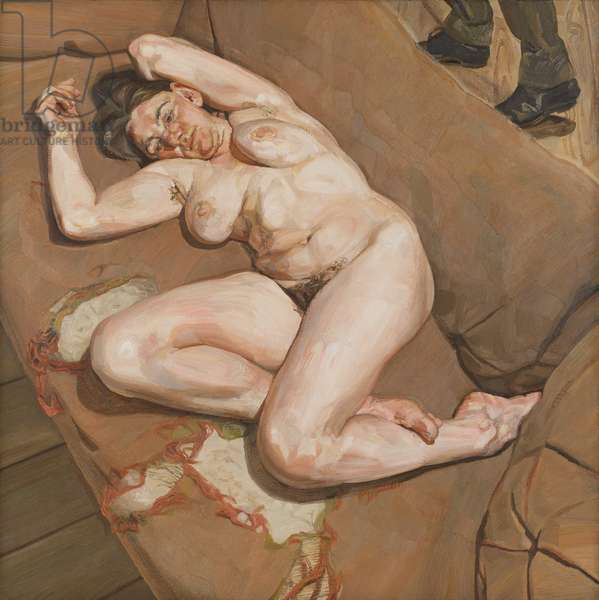 Naked Portrait with Reflection, 1980 (oil on canvas)