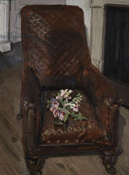 Flowers on a Red Chair, 1998 (oil on canvas)