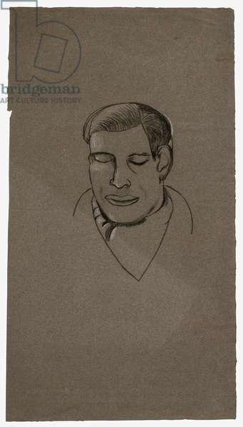 Head of a Poet, c.1945 (conté & chalk on Ingres paper)