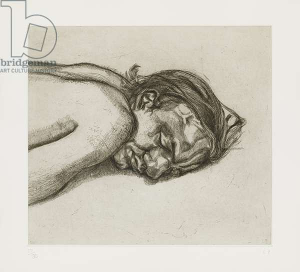 Man Resting, 1988 (etching on paper)