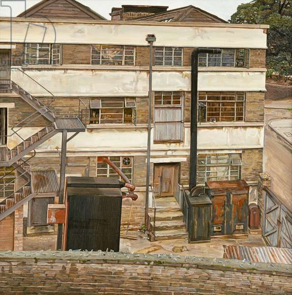 Factory in North London, 1972 (oil on canvas)