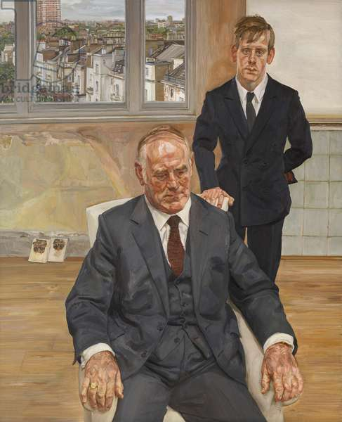 Two Irishmen in W11, 1984-85 (oil on canvas)
