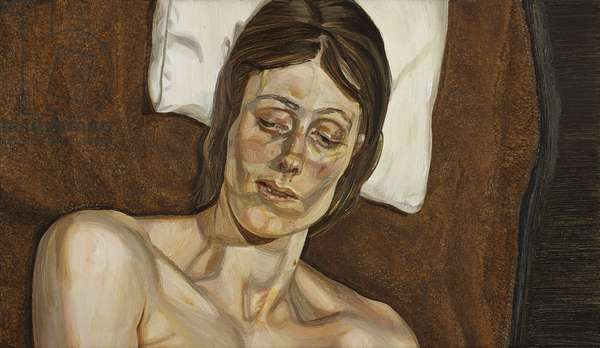 Portrait on a Brown Blanket, 1972 (oil on canvas)