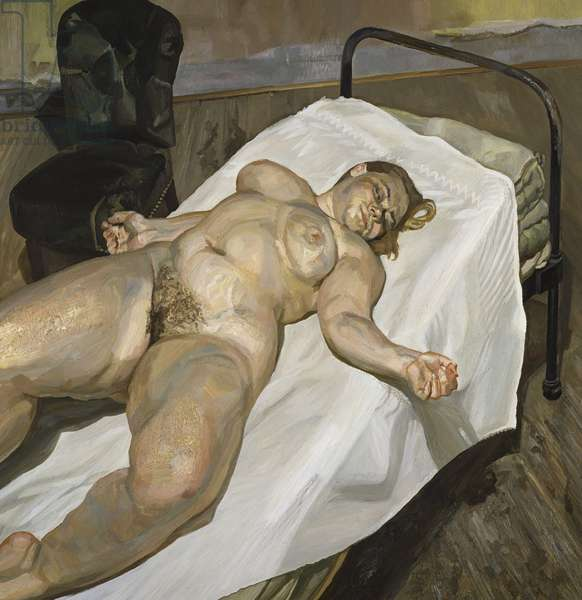 Naked Portrait with Green Chair, 1999 (oil on canvas)