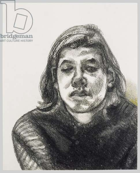 Bella, 1990 (charcoal and pastel)