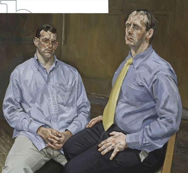 Two Brothers from Ulster, 2001 (oil on canvas)
