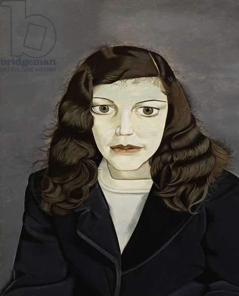 Girl in a Dark Jacket, 1947 (oil on panel)