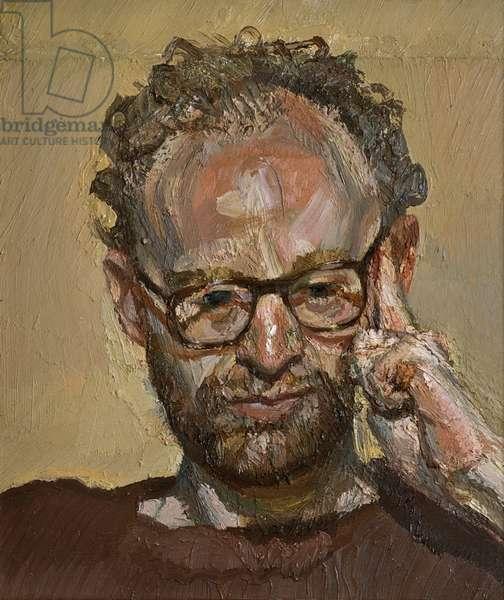 Portrait of Christopher Bramham, 1989 (oil on canvas)