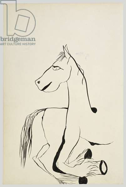 Horse Looking Left, 1940 (ink on paper)