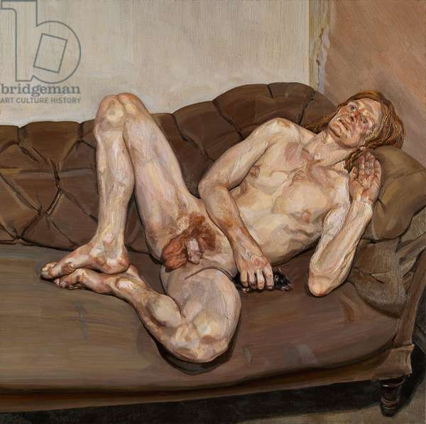 Naked Man with Rat, 1977-78 (oil on canvas)