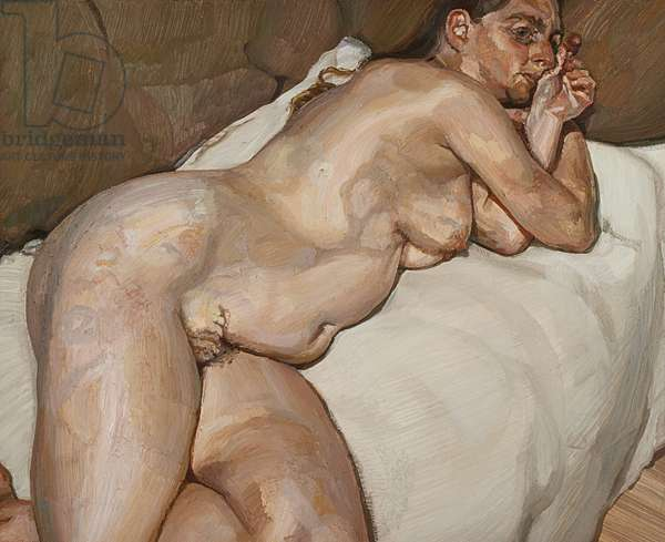 Naked woman on a sofa, 1984-85 (oil on canvas)